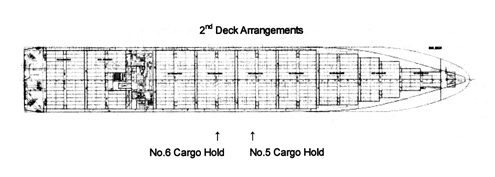 MOL Comfort container ship plan view