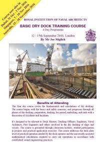 Dry Dock Training Course Sept 2016